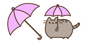 Pusheen with Umbrella Cursor