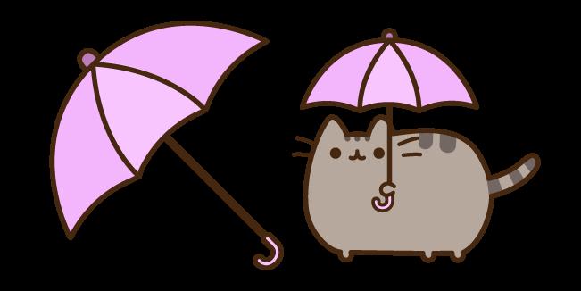 Pusheen with Umbrella