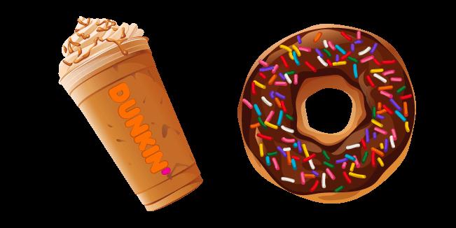 Dunkin Pumpkin Latte and Donut