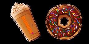 Dunkin Pumpkin Latte and Donut Cursor