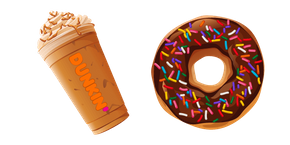 Курсор Dunkin Pumpkin Latte and Donut