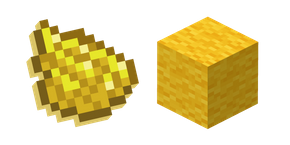 Minecraft Yellow Dye and Wool  Cursor