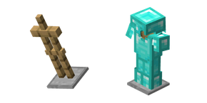 Minecraft Armor Stand and Diamond Armor  Curseur