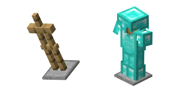 Minecraft Armor Stand and Diamond Armor