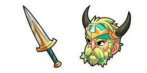 Brawlhalla Bödvar and Sword Cursor