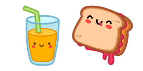 Cute Sandwich and Juice