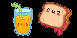 Cute Sandwich and Juice Cursor