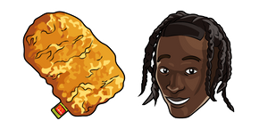 Travis Scott and McDonald's Nugget Cursor