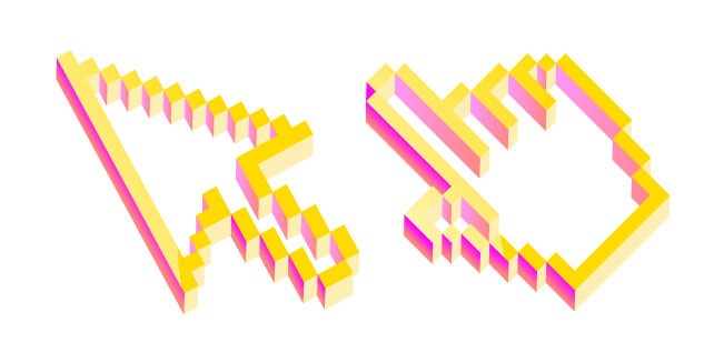 3D Yellow Pixel