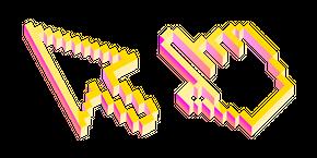 3D Yellow Pixel Cursor