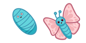 Cute Butterfly and Pupa Curseur