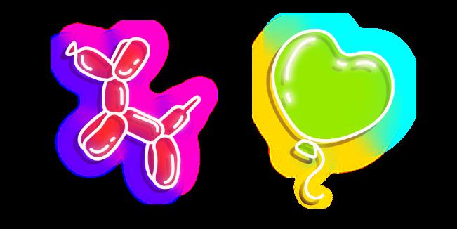 Neon Balloon Dog and Heart