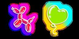 Neon Balloon Dog and Heart Cursor