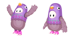 Fall Guys Character in Pigeon Costume Cursor