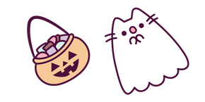 Ghost Pusheen and Basket of Sweets
