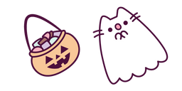 Ghost Pusheen and Basket of Sweets Cursor