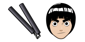 Naruto Rock Lee and Nunchucks Cursor