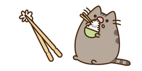 Курсор Pusheen Eating Rice
