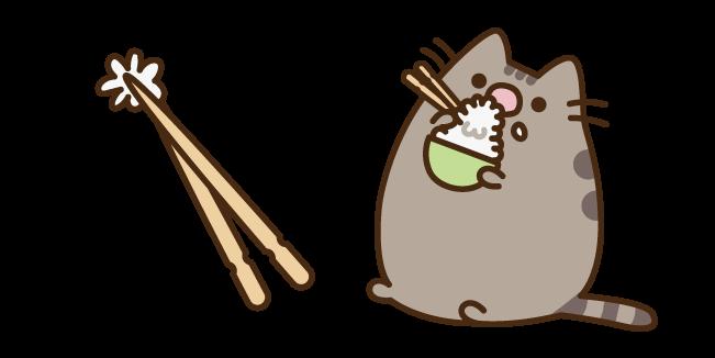 Pusheen Eating Rice