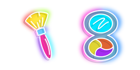 Neon Makeup Brush and Mirror Cursor