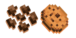 Minecraft Cocoa Beans and Cookies Cursor