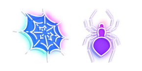 Neon Spider and Web Cursor