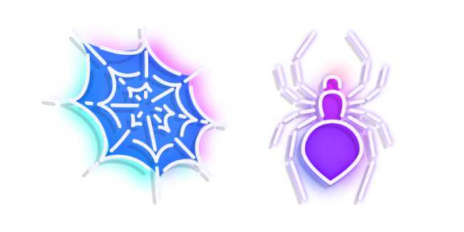 Neon Spider and Web