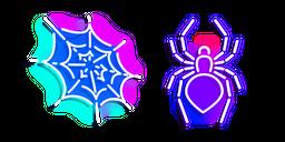 Neon Spider and Web Cursor