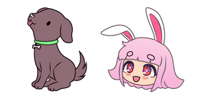 Gacha Life Yuni and Puppy Cursor