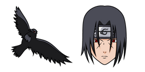 Naruto Itachi Uchiha and Crow Curseur