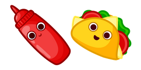 Cute Taco and Sauce Cursor