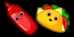 Cute Taco and Sauce Cursor