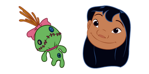 Lilo & Stitch Lilo and Scrump the Doll Cursor