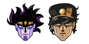JoJo's Bizarre Adventure Jotaro Kujo and Star Platinum Cursor