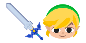 The Legend of Zelda Toon Link Master Sword Cursor