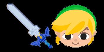 The Legend of Zelda Toon Link Master Sword Cursor