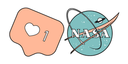 VSCO Girls Like and NASA Curseur