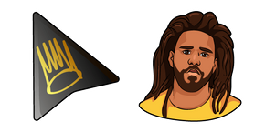 J. Cole and Crown Logo Cursor