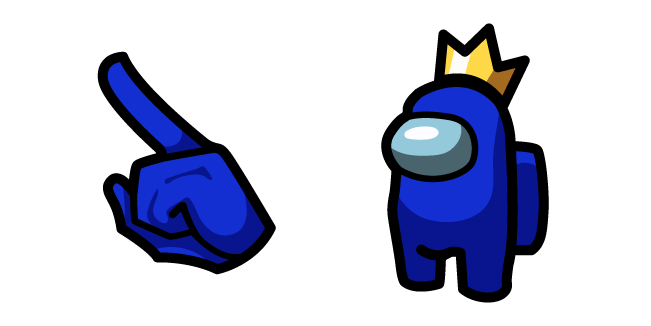 Among Us Blue Character in Crown