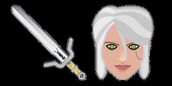 The Witcher Ciri Sword Zireael Curseur