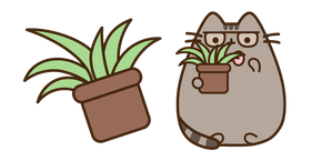 Pusheen and Plant Spring Cleaning Curseur