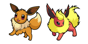 Pokemon Eevee and Flareon Curseur