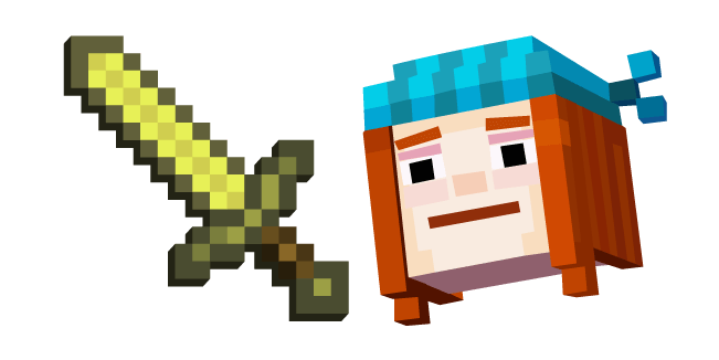 Minecraft Story Mode Petra and Golden Sword