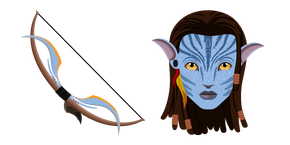 Avatar Neytiri and Bow Cursor