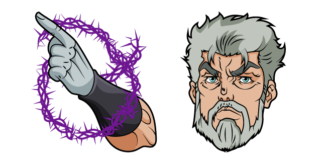 JoJo's Bizarre Adventure Old Joseph and Hermit Purple