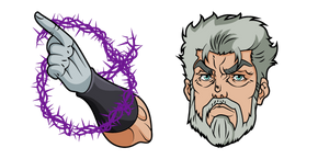 JoJo's Bizarre Adventure Old Joseph and Hermit Purple Curseur