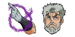 JoJo's Bizarre Adventure Old Joseph and Hermit Purple Cursor