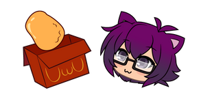 Gacha Life Bex and Chicken Nuggets Cursor