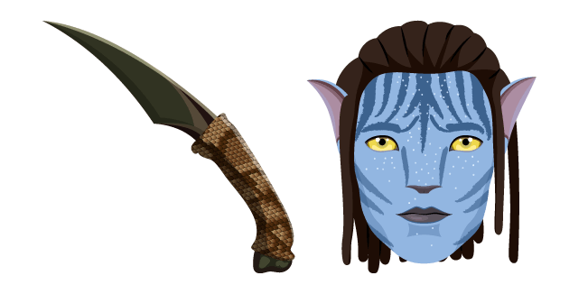 Avatar Jake Sully and Knife