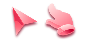 Pink Flat and Shiny Cursor